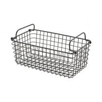 Genware Wire Basket Rectangular Black GN 1/3
