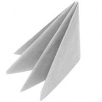 Swansoft Linen Style Silver Dinner Napkin 40cm