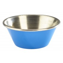 Genware Stainless Steel Ramekin Blue 4.3cl-1.5oz