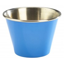 Genware Stainless Steel Ramekin Blue 7cl/2.5oz
