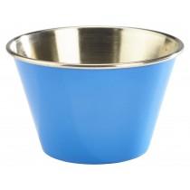 Genware Stainless Steel Ramekin Blue 17cl-6oz