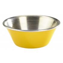 Genware Stainless Steel Ramekin Yellow 4cl/1.5oz