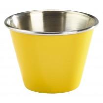 Genware Stainless Steel Ramekin Yellow 7cl-2.5oz