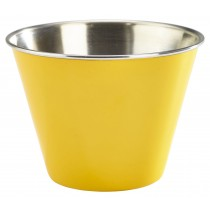 Genware Stainless Steel Ramekin Yellow 34cl-12oz