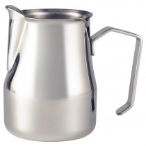 Genware Stainless Steel Premium Milk Jug 35cl/12oz