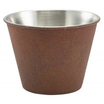 Genware Stainless Steel Ramekin Rust Effect 34cl-12oz