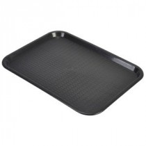 Genware Fast Food Rectangular Tray Black 406x305mm