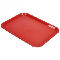 Genware Fast Food Rectangular Tray Red 406x305mm