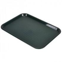 Genware Fast Food Rectangular Tray Forest Green 406x305mm