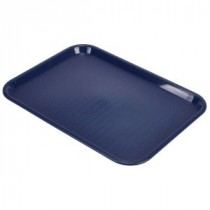 Genware Fast Food Rectangular Tray Blue 457x365mm