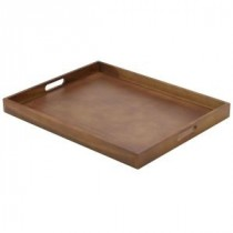 Genware Wooden Butlers Tray 53.5x42.5x4.5cm