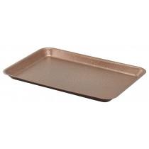 Genware Galvanised Steel Tray Hammered Copper 37x26.5x2cm