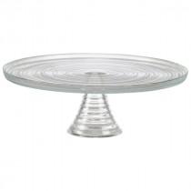 Genware Glass Cake Stand H: 11cm Dia: 32cm