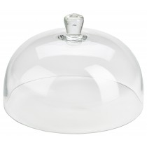Genware Glass Cake Stand Cover 19x29.8cm Diameter