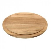 Genware Round Wood Serving or Cake Board 33cm Diameter