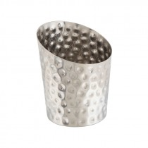 Genware Stainless Steel Hammered Serving Cup 11.6x9.5cm