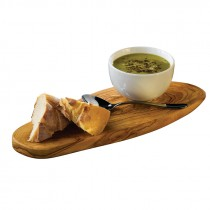 Genware Olive Wood Rustic Platter 28x13cm