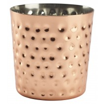 Genware Copper Serving Cup Hammered 8.5x8.5cm Diameter