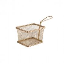 Genware Copper Serving Fry Basket 12.5x10x8.5cm