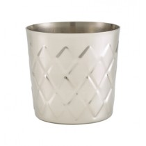 Genware Stainless Steel Diamond Serving Cup 8.5x8.5cm