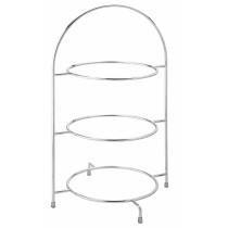 "Utopia Chrome 3 Tier Cake Stand (for 26cm/10"" Plates)"