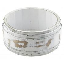 Genware Miniature Wooden Barrel White Wash 16.5x8cm