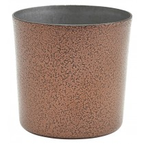 Genware Stainless Steel Hammered Copper Serving Cup  8.5x8.5cm