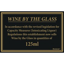 Berties Wine By The Glass Quantities 125ml 17x14cm