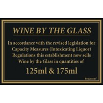Berties Wine By The Glass Quantities 125/175ml 17x14cm