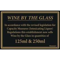 Berties Wine By The Glass Quantities 125/250ml 17x14cm