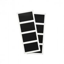 Berties Self Adhesive Rectangular Chalkboard Set 8 Pieces