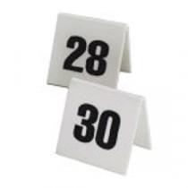 Berties Perspex Table Number Set 11 to 20